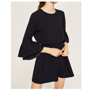 Zara Jumpsuit Romper with Frilled Sleeves